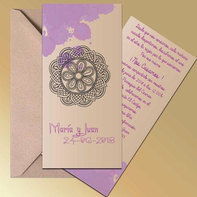 Invitación de Boda 3 - Mandala