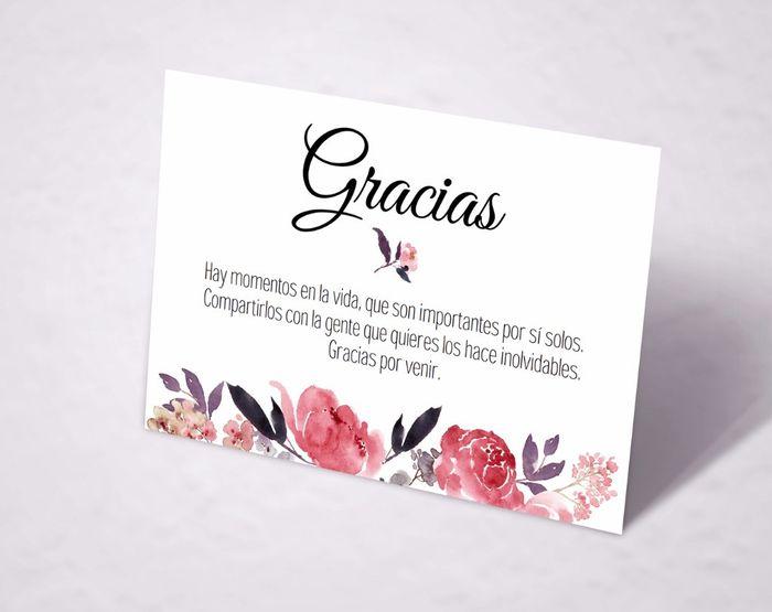 Tarjeta de agradecimiento 9