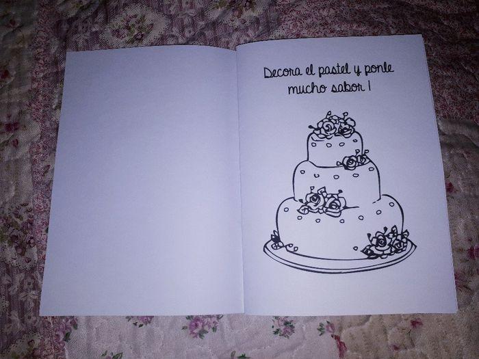 Libros para colorear y entretener a los niños en la boda 3