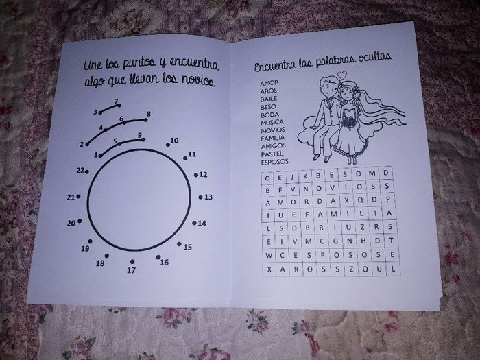Libros para colorear y entretener a los niños en la boda 4