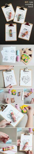 Libros para colorear y entretener a los niños en la boda 6