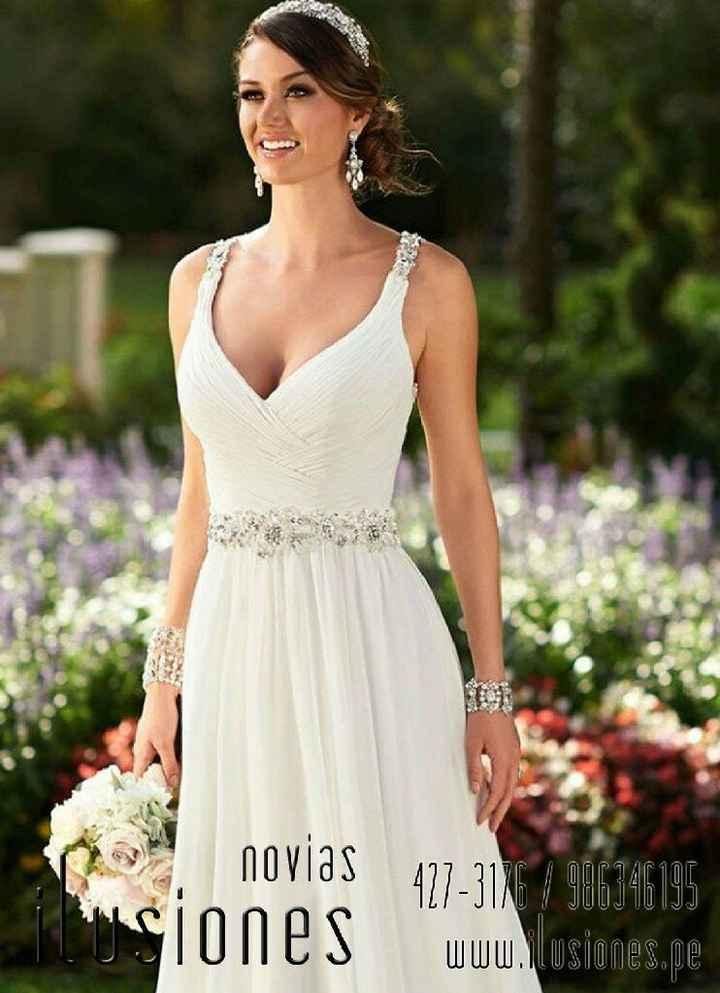 Vestido civil para novia en la playa - 1