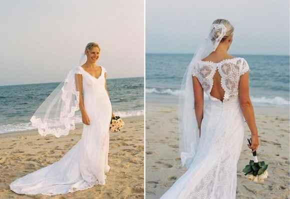 Debo llevar velo en una boda en la playa ? - 1