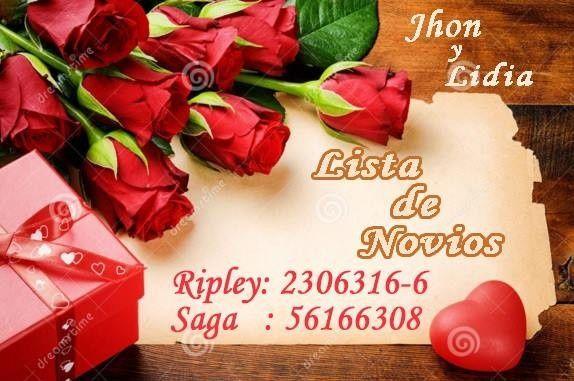 Código de Novios: Ripley y Saga.Gracias!!!