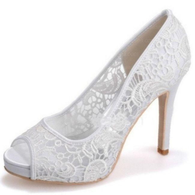 Traje blanco perla: Zapatos blancos o ivony?? 3