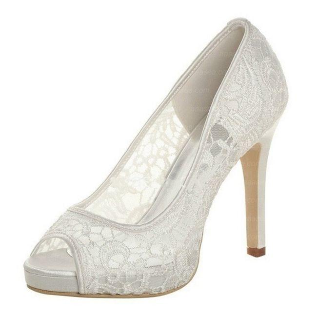 Traje blanco perla: Zapatos blancos o ivony?? 4