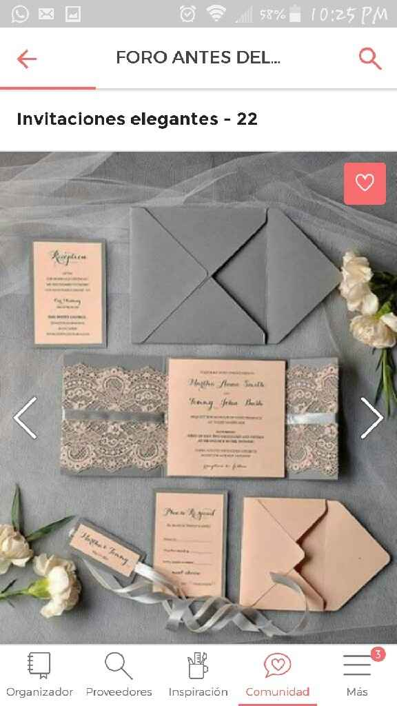 Invitaciones elegantes - 1