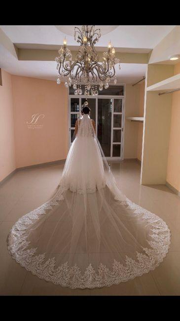 ¿Qué tan larga será la cola de tu vestido? 1