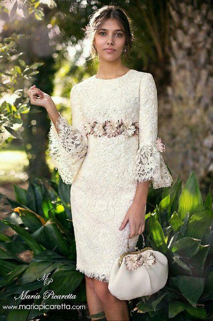 vestido boda civil - flores ♥ 1