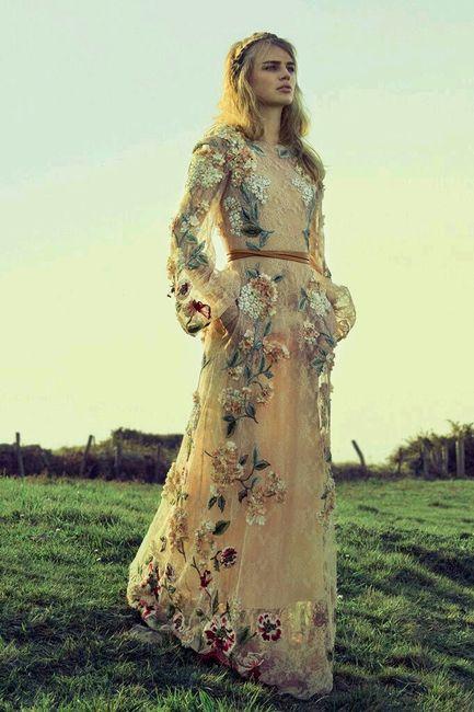 vestido boda civil - flores ♥ 2