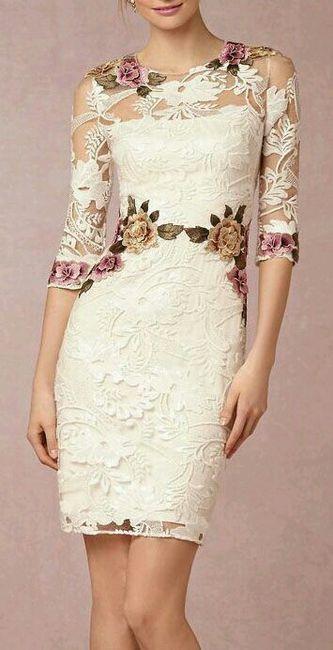 vestido boda civil - flores ♥ 3
