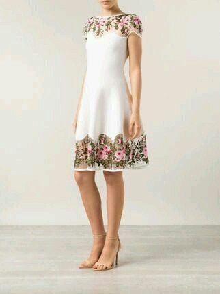 vestido boda civil - flores ♥ 5