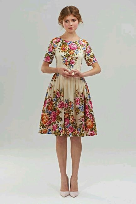 vestido boda civil - flores ♥ 6