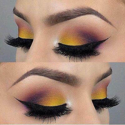 Maquillaje en Azul y amarillo 2