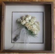 Secado de bouquet enmarcado