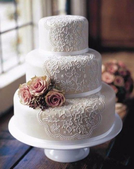 Torta y encajes