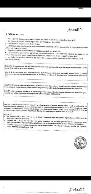 requisitos matrimonio civil -municipalidad de la victoria , lima 3