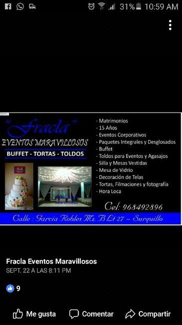 ENGAÑADA: eventos maravillosos!!!! necesito ubicar un catering urgente 1
