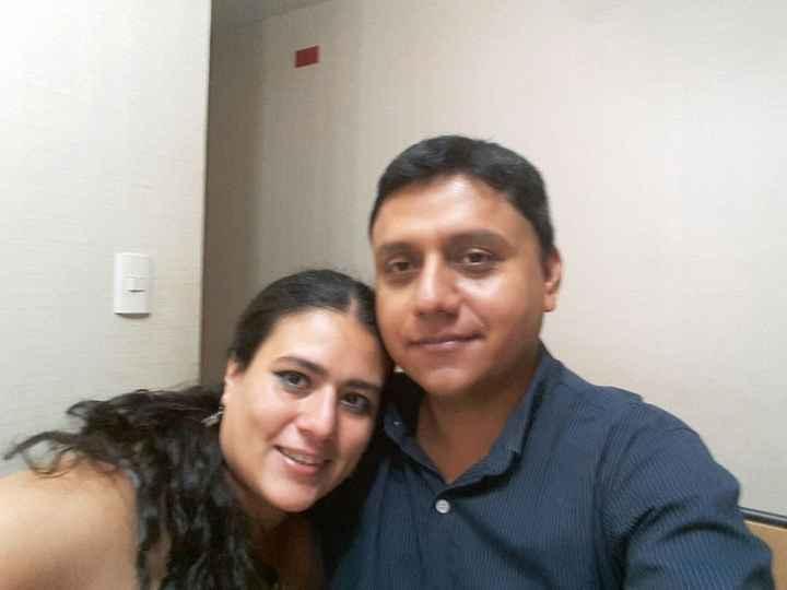 Mi amorcito Manuel y yo el 14 de febrero del año pasado