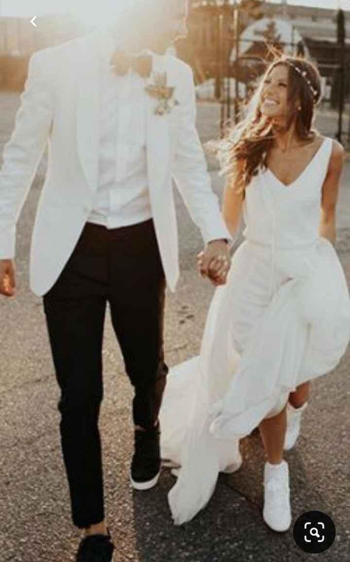 Utilizarías zapatillas en tu boda? - 1