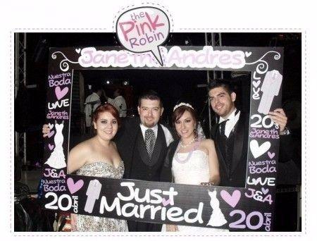 Marcos selfie para boda
