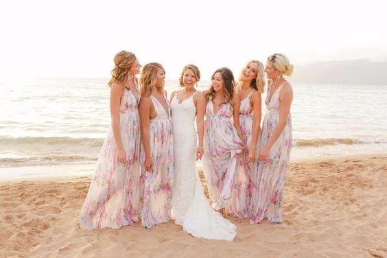 Vestido de Damas para Playa