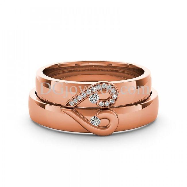 8298881f86b8 Aros de matrimonio - oro rosado