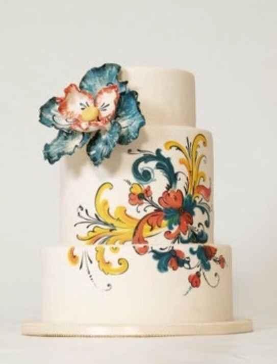 Tortas de boda coloridas y originales - 1