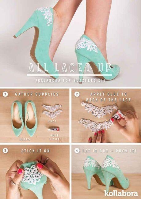 7 ideas diy para decorar tus zapatos de novia