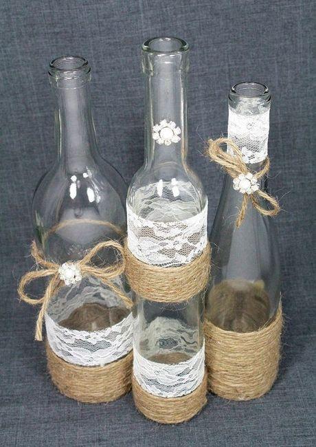 Centros de mesa con botellas DIY 3