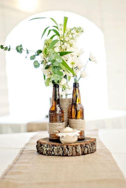 Centros de mesa con botellas DIY 4