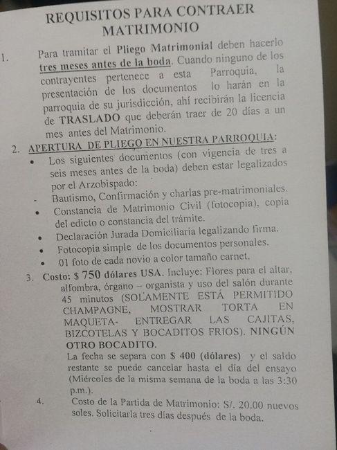 Requisitos Parroquia Nuestra Señora del Pilar 1