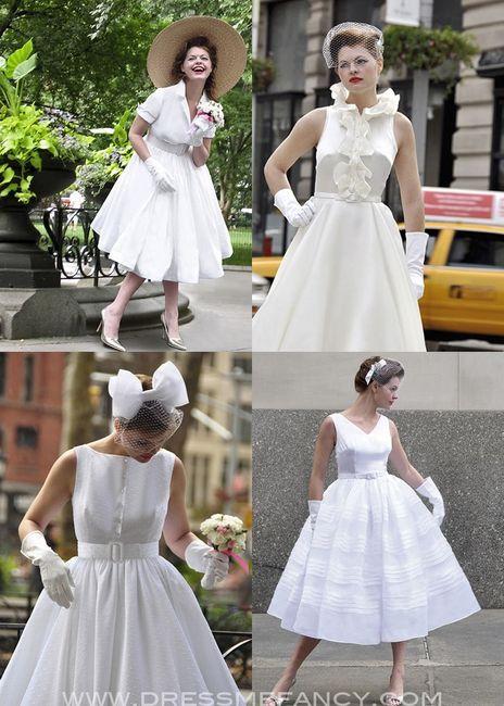 vestidos de novia corto estilo vintage