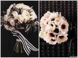 bouquet de novia blanco y negro