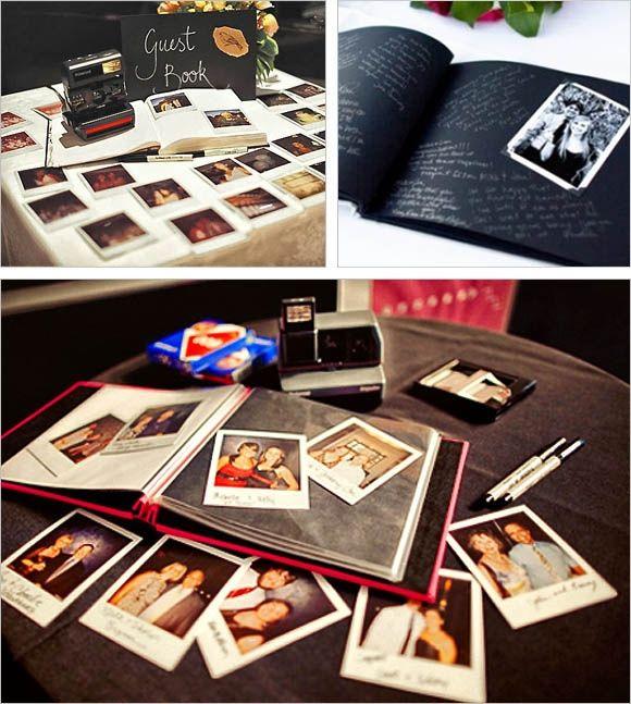 libro de firmas con fotos