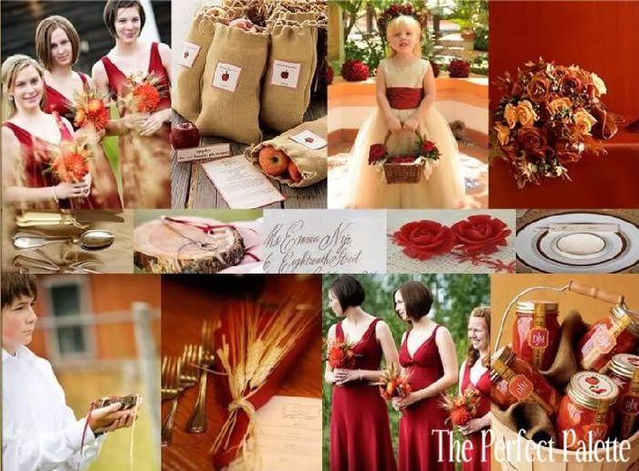 matrimonio perla y rojo vino