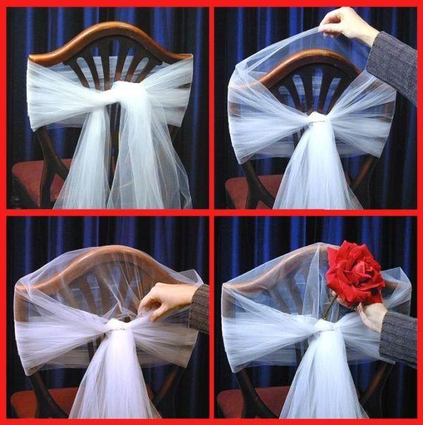 decoración de silla de matrimonio