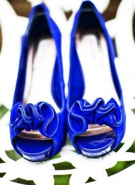 zapatos novia azul