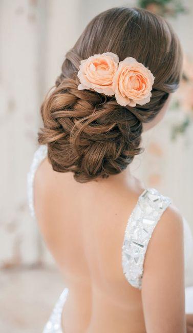 peinado de novia romántica