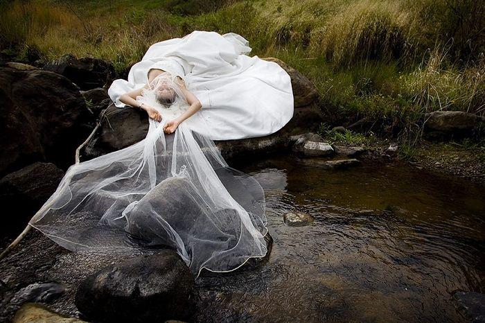trash dress vestido de novia