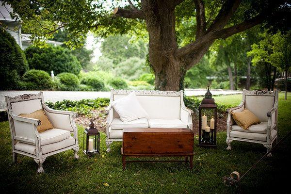 zona lounge para matrimonio vintage