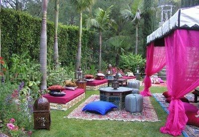 zona lounge para matrimonio estilo arabe