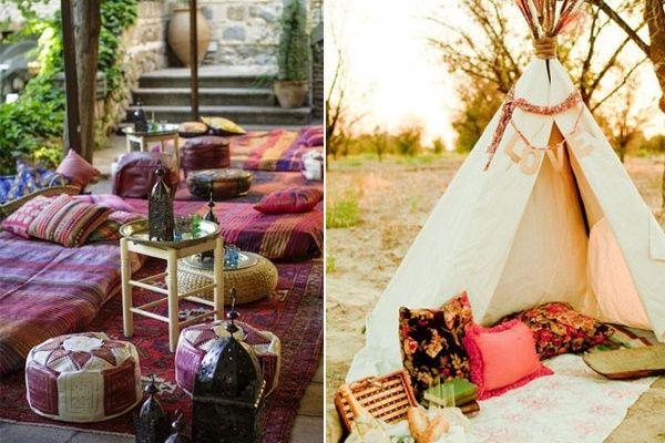 zona lounge para matrimonio hippie