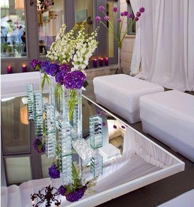 zona lounge para boda morado