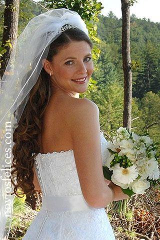 el velo de novia que cae con tu peinado - Peinados De Novia Con Velo