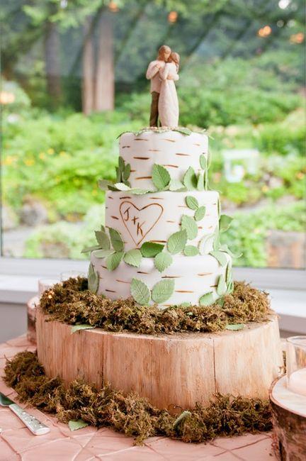 Torta Matrimonio Rustico : Torta para boda al aire libre