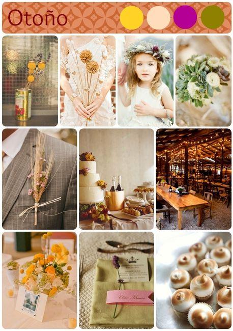 colores para boda en otoño