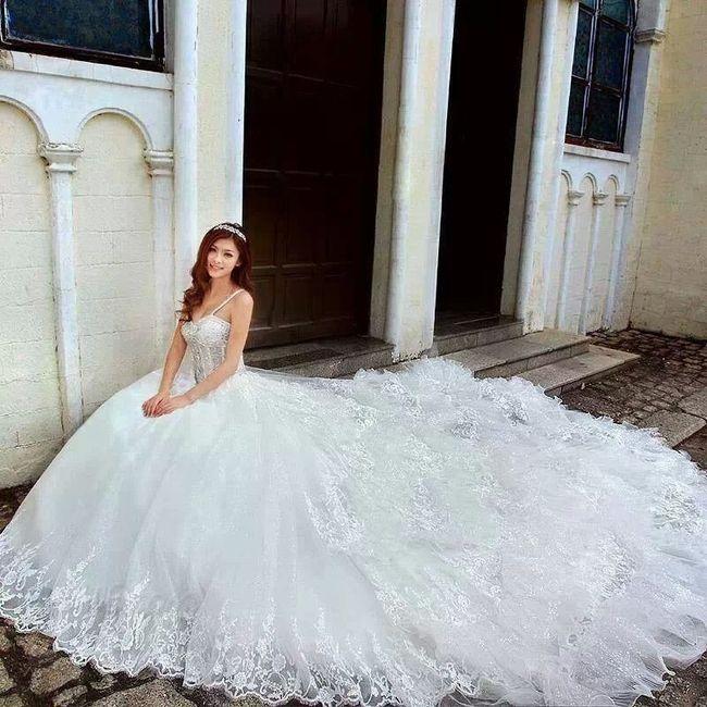 Vestidos de novia esponjados para gorditas
