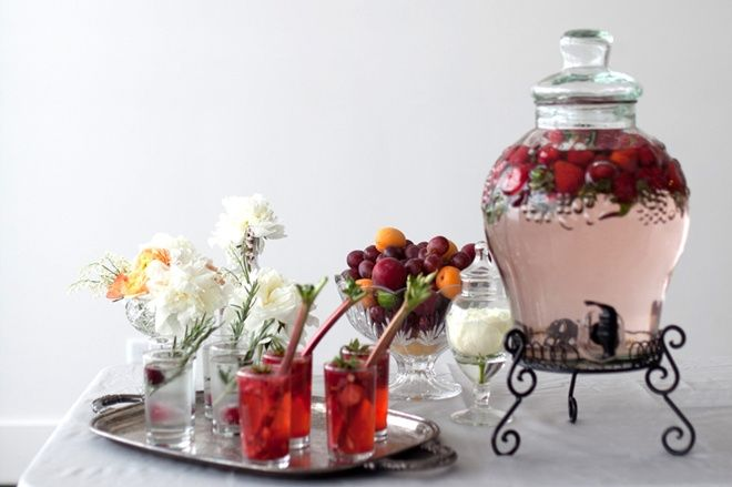 mesa de refrescos