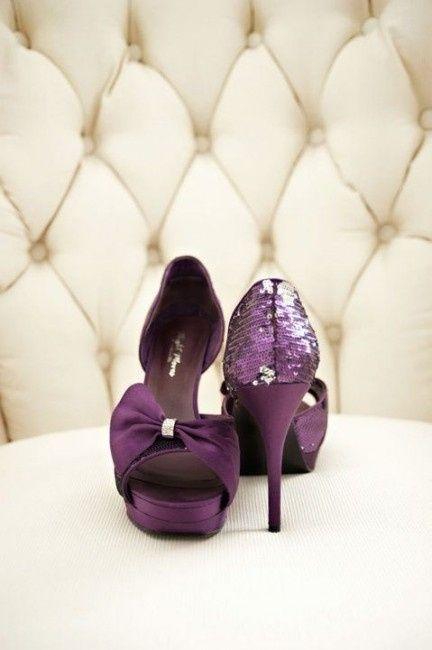 zapatos de novia morado